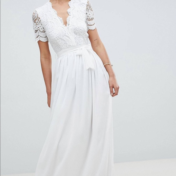 ASOS Dresses & Skirts - White Elegant Floor Length Dress
